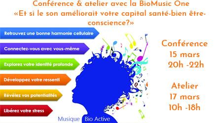 Conférence & atelier «Et si le son améliorait votre capital santé-Bien Etre?»