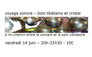Voyage sonore – bols tibétains et cristal