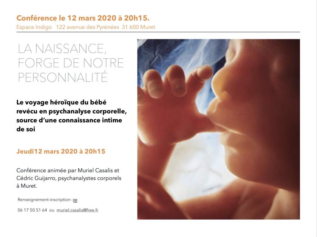 Conférence : La naissance, forge de notre personnalité